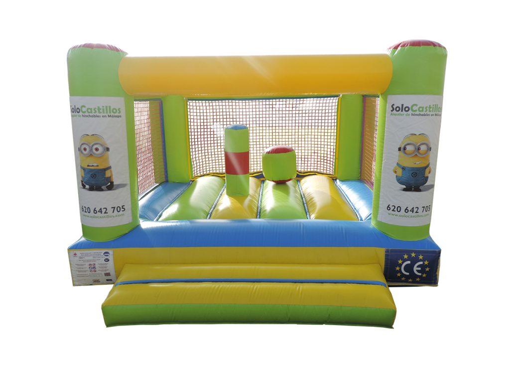 Castillo hinchable para niños de uno a cinco años