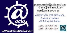 Logo AnimaOcio. Alquiler de castillos hinchables y organización de escuelas infantiles.