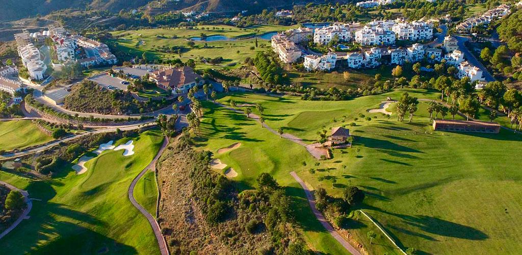 Vista aérea del club de golf de Alhaurín el grande
