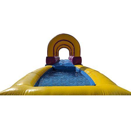 Hinchable deslizador acuático con piscina